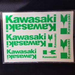 kawasaki matrica szett, Táblás zöld